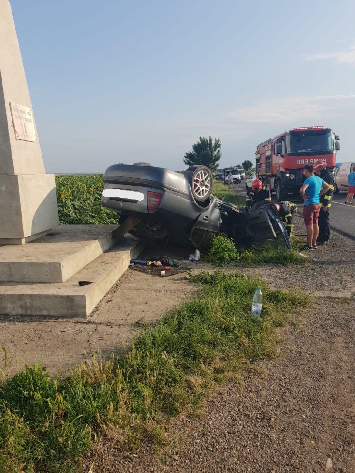 Accident de circulație pe DN2E85, în afara localității Poșta Câlnău.