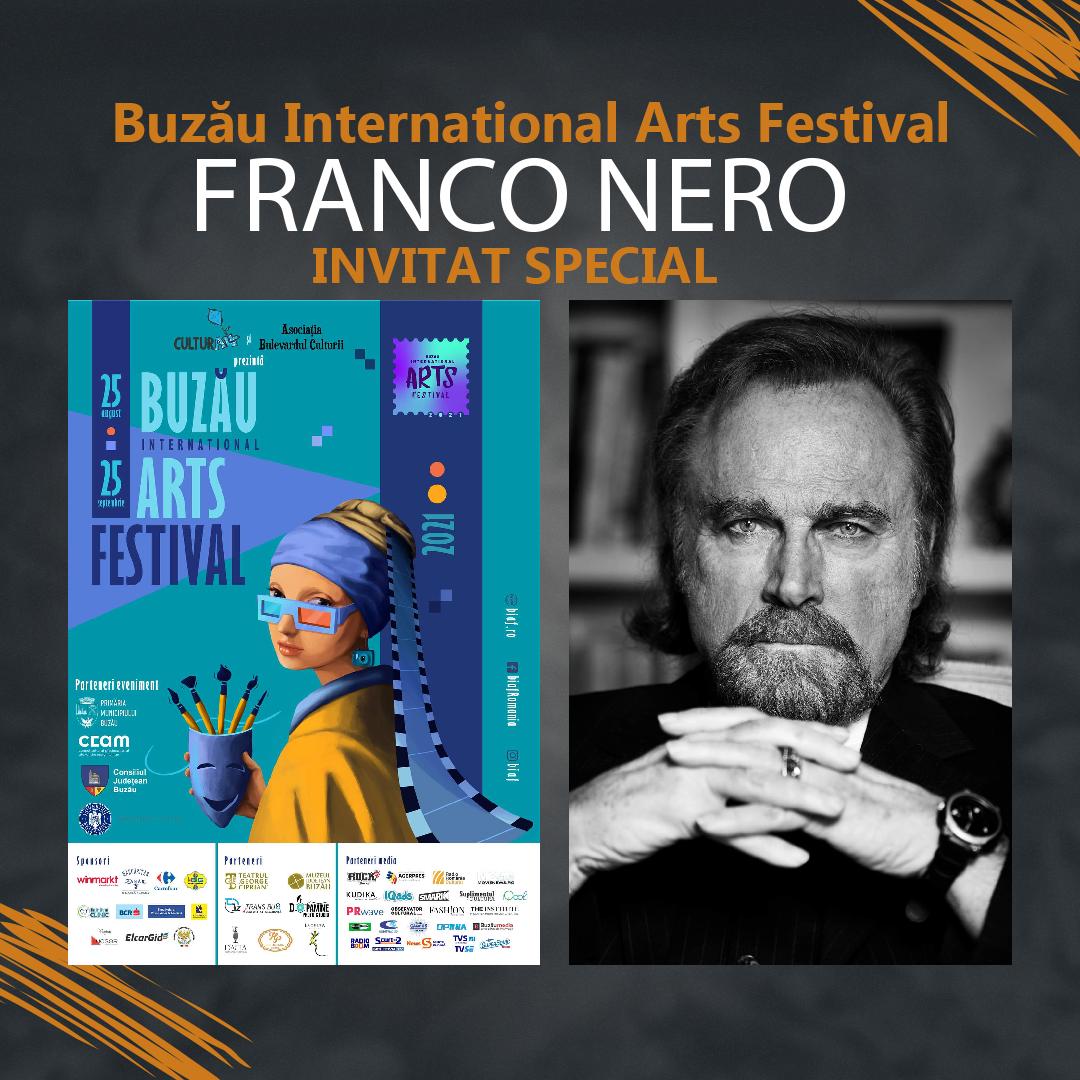 Intâlnire de gradul 0 a buzoienilor cu îndrăgitul actor Italian, Franco Nero, în perioada 31.08-02.09 doar la Buzău International Arts Festival. Deschiderea festivalului va fi facută de Damian Drăghici & Brothers pe 27 august.
